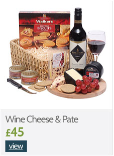 Wine Cheese and Pate Hampers