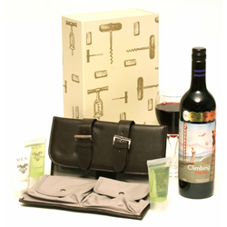 TRAVEL CASE & RED WINE FOR FATHERS