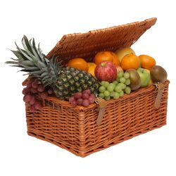 Fruit in wicker hamper
