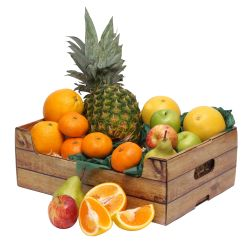 Fruit in an open basket