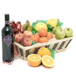 Fruit with red wine