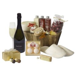 Pamper hamper with sparking wine & chocolates