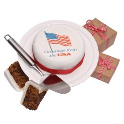 USA greetings cake