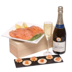 Smoked salmon and champagne