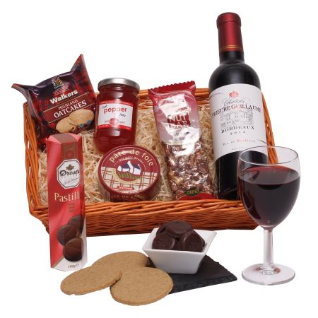 Wine, Sweets And Savouries Hamper For Him