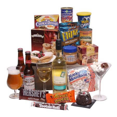 American Christmas hamper