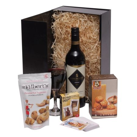Gentlemans Black Box Gift Hamper For Him