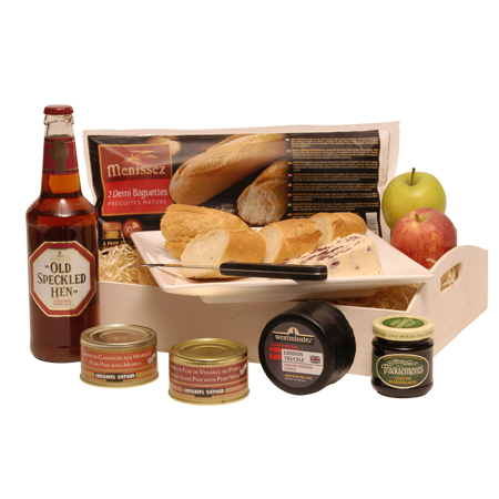 Ploughman's Lunch Gift Basket with Beer